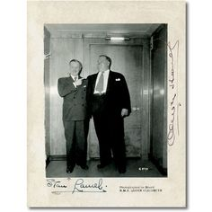 Laurel and Hardy Autographed Photo