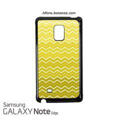 Yellow Ombre Chevron Samsung Galaxy Note EDGE Case