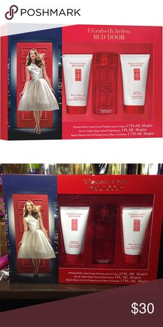 Elizabeth Arden Red Door 3 Piece Gift Set This 3-Piece Elizabeth Arden Red Door Gift Set for Women Includes: 01.  A Perfumed Body Lotion 02. Perfume 03. A Bath and Shower Gel  The iconic signature fragrance has an elegant floral scent.   The Red Door perfume gift set is a celebration of romance and glamour. Elizabeth Arden Other