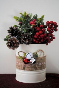 45 Easy DIY Dollar Store Christmas Decorations for Decorating on a Budget - The Trending House Christmas Decor Diy Cheap, Farmhouse Christmas Decor, Rustic Christmas, Christmas Themes, Christmas Wreaths, Christmas Crafts, Christmas Decorations, Farmhouse Decor, Xmas