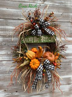 Your place to buy and sell all things handmade Outdoor Fall Wreaths, Autumn Wreaths, Holiday Wreaths, Wreath Fall, Spring Wreaths, Summer Wreath, Thanksgiving Wreaths, Thanksgiving Decorations, Fall Decorations
