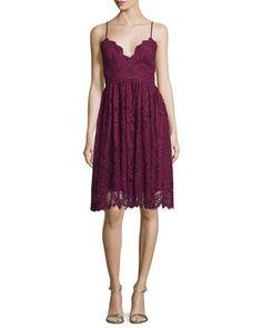 Sleeveless+Lace+Fit+&+Flare+Dress++by+ZAC+Zac+Posen+at+Neiman+Marcus.