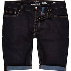 Dark wash skinny stretch denim shorts £28.00