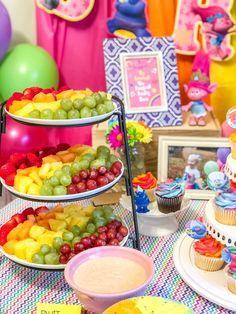Ideas Birthday Party Decorations Backdrop Food Tables For 2019 1st Birthday Foods, Birthday Party Menu, Christmas Birthday Party, Trolls Birthday Party, Troll Party, 2nd Birthday Parties, Birthday Nails, Birthday Ideas, Rainbow Birthday