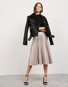 'Shine like a Star' pleated skirt - Skirts - Bershka Mexico