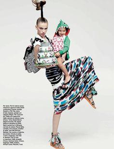 D La Repubblica April 2014 | Natalia Belova, Agata Danilova + Mais by Takay