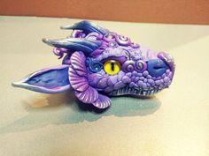 Purple DragonHead Pendant by MakoslaCreations on Etsy, $25.00