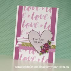 Scrap Stamp Share: Adore You- CTMH Stamp of the Month Australasian Blog Hop