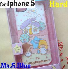 Sanrio little twin stars kiki lala hard Back Case Cover apple iPhone 5 -B