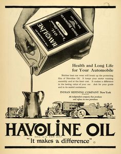 1920 Ad Havoline Oil Transportation Farm Tractor Truck Auto Indian Refining SCA3