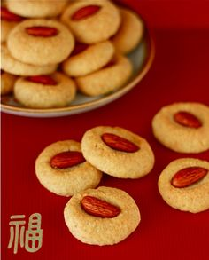 Almond Cookies with honey vanilla spiced almonds