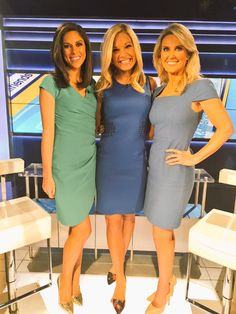 Beauties of Fox & Friends First Fox New Girl, Fox And Friends First, Female News Anchors, Newscaster, Nice Dresses, Dresses For Work, Hot Dress, New Woman, Beauty