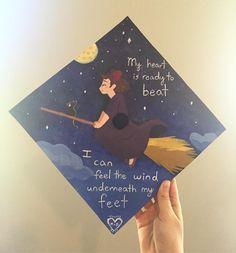 #gradcap #gradcapdecorating #painting #kiki // follow us @motivation2study for daily inspiration Quotes For Graduation Caps, Graduation Cap Designs, Graduation Cap Decoration, Graduation Diy, Grad Cap, High School Graduation, Graduation Pictures, Senior Pictures, Graduation Photoshoot