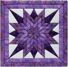 "Starburst Quilt Magic Kit. Similar to painting by numbers, you can literally ""paint by fabric"". Simply apply fabric to the foamboard by pressing into the pre-cu"