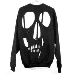 Skull Cut Out Sweatshirt - I really wanna make the front part of the sweater but I'm nervous that I won't be able to pull off such a grudge look.