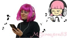 """Sing from Smule"" Hacker girl make with Gimp by MGCreation83 - Crochet time with Giulia"