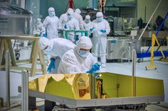 The first two of the 18 primary mirrors to fly aboard NASA's James Webb Space Telescope arrived at NASA's Goddard Space Flight Center in Greenbelt, Md.Technicians and scientists check out one of those mirrors in the clean room.