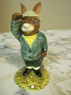 Vintage Royal Doulton Bunnykins Golfer by janislogsdongems on Etsy, $75.00