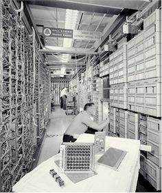 Not-quite-all-electronic telephone switching system  Western Electric 1ESS (digital CPU, but still used reed switches and relays)  Western Electric 1ESS switching system  First installed in Succasunna, NJ, in May 1965