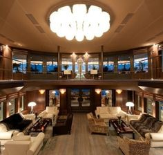 Luxury yacht interior