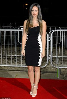 Georgia May Foote at the BAFTA Games Awards in London, England on March wearing a Pretty Little Things Peney Monochrome knitted bandage dress. Georgia May Foote Instagram, Non Blondes, Actrices Hollywood, Brunette Beauty, Gorgeous Women, Beautiful Eyes, Sexy Dresses, Celebrity Style, Sexy Women