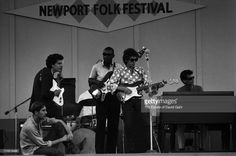 ... Newport By David Gahr. Singer songwriter Bob Dylan rehearses with (l-r) Mike Bloomfield, Sam Lay, Jerome