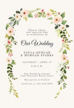 Soft Floral Wedding Invitation Template Free Em 2020 Modelo
