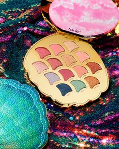 I wanna be where the palettes are   Good news, aspiring ♀️♀️♀️, @tarte's mermaid-inspired eyeshadow palette is available online right now (!) and in-store 3/8 ✨ Packed with 14 must-have mattes and shimmers, your collection won't be complete...
