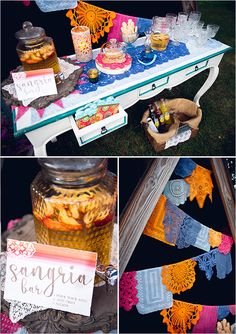 wedding sangria bar details #weddingbar
