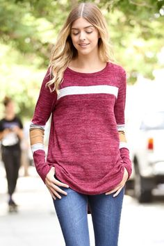 Women's Clothing Boutique | Kelly Brett Boutique - Team Spirit Tunic Burgundy, $28.00 (http://www.kellybrettboutique.com/team-spirit-tunic-burgundy/)