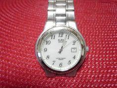Seiko アンティークALBASOLAR10BARの腕時計ホワイト Watch Antique ¥2000yen 〆05月26日