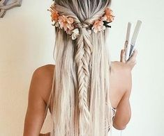 boho chic hair.