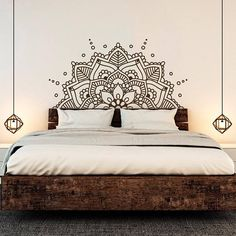 Mandala Art Vinyl Wall Stickers Yoga Boho Removeable Decal Headboard Bedroom Decoration home decor ideas Headboard Decal, Wall Decals For Bedroom, Bedroom Decor, Master Bedroom, Bedroom Headboards, Ikea Bedroom, Bedroom Ideas, Bedroom Inspiration, Decals For Walls