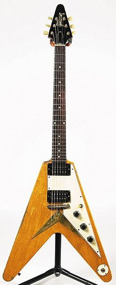 "A '59 Gibson Flying V, one of Gibson's ""way out"" guitars. Everybody has tried one, including Neil Young"
