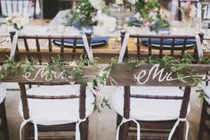 Adorable rustic chair treatments. Photo by Taylor Lord Photography. www.wedsociety.com #wedding #chair