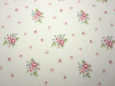 Japanese Fabric YUWA  Flower Bouquet of Rose Ivory x by Cawaiimart, $4.80