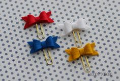Sail Away Nautical Themed Petite Felt Bow Set on Mini Gold Paper Clips Planner Clips for Your Erin Condren Filofax Kikki K Accessories by PeoniesPaperie on Etsy https://www.etsy.com/listing/237557526/sail-away-nautical-themed-petite-felt