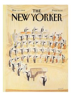 The New Yorker Cover - March 12, 1984 reproduction procédé giclée