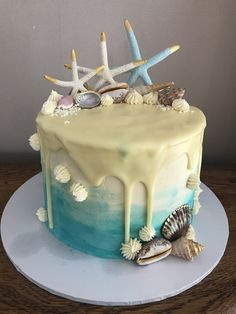 Sea beach ocean birthday cake Birthday Cake, Ocean, Sweets, Beach, Desserts, Food, Tailgate Desserts, Deserts, Gummi Candy