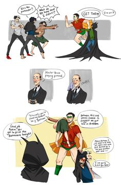 Art From the Inkwell Hahahaha!!! Bruce as Robin!!!