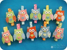 Prendedores decorados corujinhas | Eles não poderiam faltar!… | Flickr