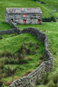 In ireland, all the rocks they uncovered in the field when they planted were made into these walls