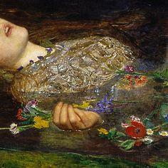 Millasis's Pre-Raphaelite Ophelia Up Close John Everett Millais, Great Paintings, Face Paintings, 3d Chalk Art, Pre Raphaelite, Dark Fantasy Art, Love Painting, Summer Art, Black And Grey Tattoos