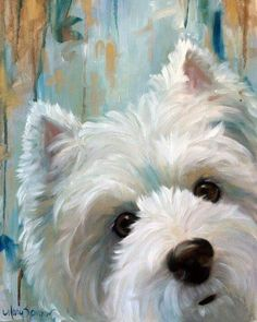 Signed PRINT Westie West Highland Terrier Dog Art by Mary Sparrow Custom Pet portraits art breeds cutest funny training bilder lustig welpen West Highland Terrier, Highlands Terrier, Westies, Art Watercolor, Dog Portraits, Animal Paintings, Dog Art, Painting Inspiration, Style Inspiration