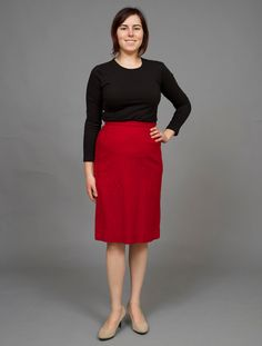 ($26.00) This classic pencil skirt is conservative, but the bright red color makes it playful. This skirt is 100% wool and made by Pendleton.