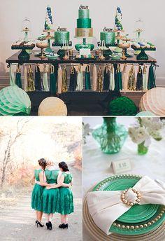 Bodas en emerald green
