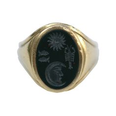 Barry Kieselstein-Cord - Barry Kieselstein-Cord Intaglio Ring 18kt... ❤ liked on Polyvore featuring jewelry, rings, accessories, kieselstein cord ring, kieselstein cord jewelry, yellow gold jewelry, gold rings and gold jewellery