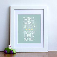 'twinkle twinkle' nursery rhyme print by oakdene designs | notonthehighstreet.com