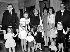 scanpix:  Christmas, Madrid, Spain, 1968-King Constantine and Queen Anne-Marie with Princess Alexia and Crown Prince Pavlos, Queen Frederika with Infanta Christina, Princess Irene, Infanta Sofia, Infante Felipe (seated), Infante Juan Carlos with Infanta Elena