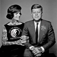 Jackie O. and John F. Kennedy | This Is What It Would Look Like If Your Favorite Celebrities Were Covered In Badass Tattoos
